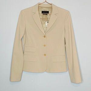 BCBG Maxazria | Blazer Lined Career Khaki Jacket